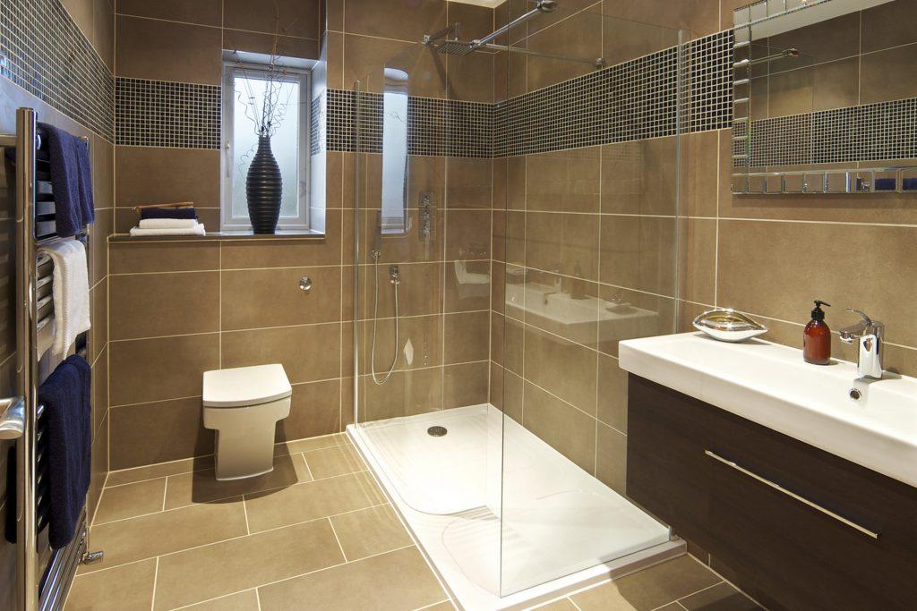Lovely tiled bathroom